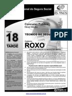 INSS Prova Cargo NM 18 Caderno Roxo1