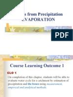 Unit 3 - Losses From Precipitation (Evaporation)