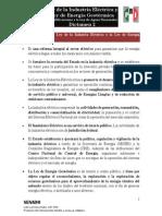 21-07-14 Dictamen - Ley de la Industria Eléctrica y Ley de Energía Geotérmica