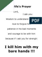 fun oracion de la esposa wife players