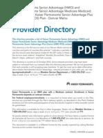 Co Cod Provider Directory
