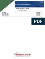 Edwards EMF3, EMF10, EMF20 Oil Mist Filters user manual