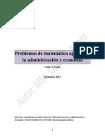 Ejercicios de Matemática Aplicada a La Administración y Economía.
