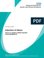 Induction of Labour- NICE