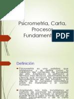 5.3 Psicrometría, Carta, Procesos Fundamentales