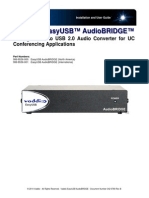 Vaddio Vaddio EasyUSB AudioBRIDGE Manual