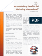 Oportunidades y Desafíos Del Marketing Internacional - Virginia Davis M