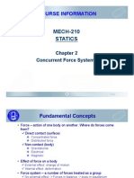 MECH-210 Ch02 Concurrent Force Systems