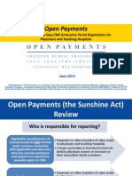 Sunshine Act Overview
