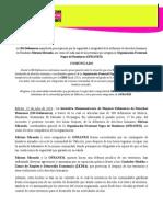 140722 Comunicado IMDEFENSORAS_Miriam Miranda