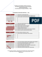 Calendario PIBITI