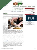 James Hoffman on Crema - CoffeeGeek
