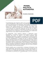 castoriadis=poder-politica-autonomia
