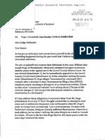 Letter to Judge Hollander regarding Hoge Treachery