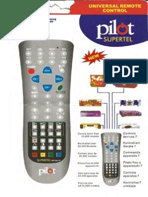 pilot urc2002-p codes