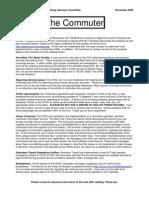 November 2009 Commuter newsletter