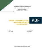 Origen y Desarrollo Del Método Investigación Acción Particip