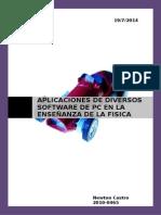 APLICACIONES DE DIVERSOS SOFTWARE DE PC EN LA ENSEÑANZA DE LA FISICA.doc