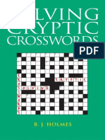 Solving Cryptic Crosswords