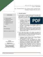 Indice de Costos de Transporte de Carga Por Carretera - Primer Trimestre de 2013
