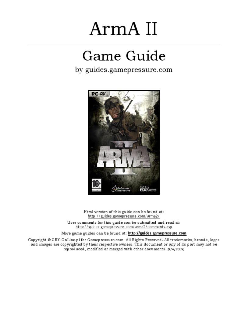 ArmA ii GAME guidE (Gamepressure com) | Trademark | Sniper