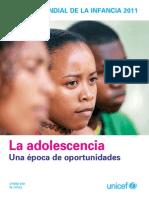 UNICEF 2011 Estado Mundial de La Infancia Los Adolescentes
