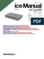 Technics Stereo Tuner ST-GT 650