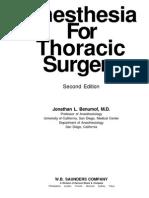 Benumof - Thoracic Anesthesia