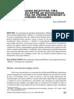 Enio Passani - Afinidades Eletivas Entre Bourdieu e Williams