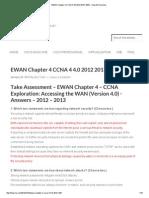 Cisco 4 EWAN Chapter 4 CCNA 4 4