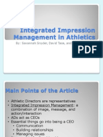 integrated impression management in athletics