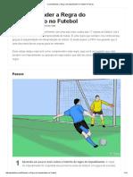 Como Entender a Regra Do Impedimento No Futebol_ 6 Passos