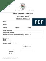 Inscrição Stands 2014