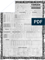 Conan - Character Sheet 2nd Edition (2 Page)