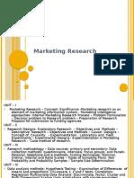 Marketing Research - I
