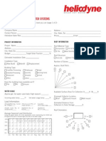 Project Data Input Sheet for Commercial SHW Heating