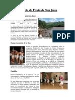 Historia de Fiesta de San Juan y Danzas