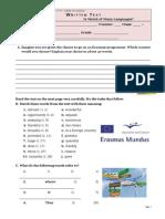 Test Erasmus 10form