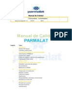 Manual de Calidad PARMALAT