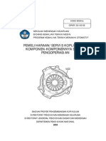 Pemeliharaan Servis Kopling Dan Komponen Komponennya Sistem Pengoperasian