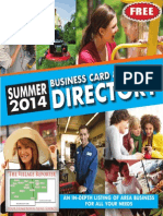2014 Summer Business Card Directory