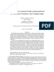 The Role of CBI on Optimal Tax and Seig October 2013