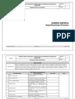 Ejemplo de Procesos Empresa Confeccion