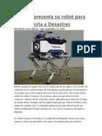 Toshiba Presenta Su Robot Para La Respuesta a Desastres