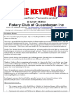 The Keyway - weekly newsletter for Queanbeyan Rotary - 23 July 2014 edition