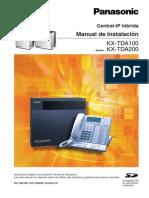KX-TDA100 Manual de Instalacion
