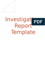 2013 Investigation Report Template