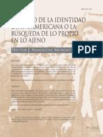 El Sueño de La Identidad Latinoamericana o La Busqueda de Lo Propio Hahuelpán