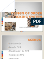 Design of Order Picking System