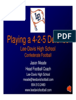Lee-Davis HS - Playing an Attacking 425